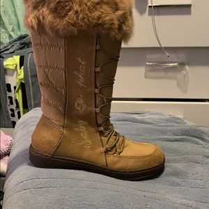Ladies baby phat tall winter boots wfur